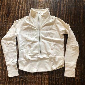 Armani Exchange Zip-Up Cream Sweater- Size L (EUC)